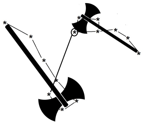 Double Axes with Bull Star